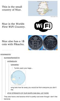 "Niue ""behold the coconut""  too funny... pokemon pikachu on the money?"