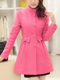 Ladylike Casual Long Sleeve Overcoat Frock Fashion, Blazer Fashion, Teen Fashion Outfits, Mode Outfits, Fashion Wear, Summer Fashion Trends, Winter Fashion, Coats For Women, Clothes For Women