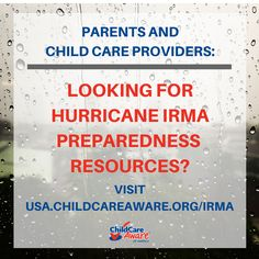 usa.childcareaware.org/irma Disaster Preparedness, Safety Tips, Childcare, Usa, Parenting, U.s. States