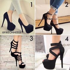 Women's Fashion High Heels :    Ladies your choice! Like Comment Share Tag!  - #HighHeels https://youfashion.net/shoes/high-heels/trendy-womens-high-heels-ladies-your-choice-like-comment-share-tag/