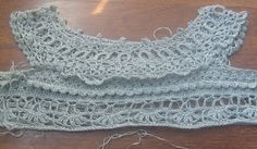 Gray crochet dress- detail