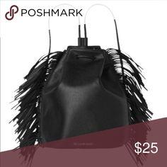 Victoria's Secret Black Fringe Backpack Bought and never used. Victoria's Secret Bags Backpacks