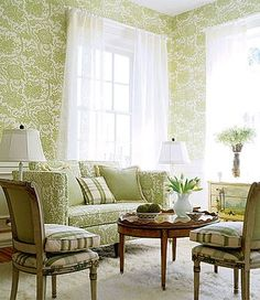 Soft and pretty...very feminine for green...
