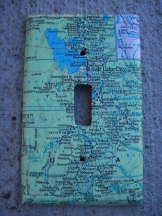 Repurposing Maps.....could also use sheets of music, pages from an old book or dictionary,  or your children's artwork!