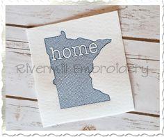 $2.95Sketch Style Minnesota Home Machine Embroidery Design
