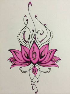 Lotus by TheTravelingKimchi on DeviantArt Tropical Tattoo, Hawaiian Tattoo, Flower Tattoo Drawings, Flower Tattoos, Body Art Tattoos, Sleeve Tattoos, Henna Butterfly, Lotus Flower Art, Flower Tattoo Shoulder