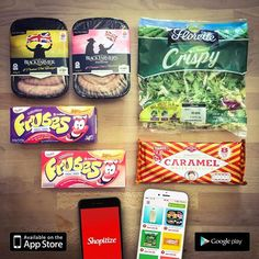 Good morning!  Here are some items on offer as of today!  #SUBTLEMARKETING  DOWNLOAD SHOPITIZE AND SAVE ON YOUR SUPERMARKET SHOP! #SMARTSHOPPING App Store, Happy Shopping, Caramel, Food, Sticky Toffee, Candy, Meals, Fudge