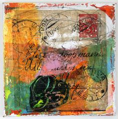 painting mixed media letter abstract art contemporary by eeliethel