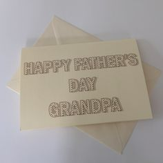 New to weheartcards on Etsy: Luxury Personalised Father's Day card  Free UK Shipping (7.95 GBP)