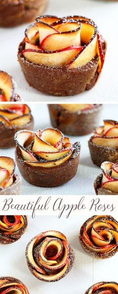 How to Make Apple Roses surrounded by a rich Chocolate Pastry~ (full tutorial)