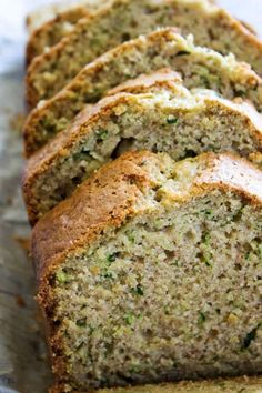 Zucchini Bread This zucchini bread recipe is made with fresh zucchini making it amazingly moist.This zucchini bread recipe is made with fresh zucchini making it amazingly moist. Best Zucchini Bread, Zucchini Bread Recipes, Best Moist Zucchini Bread Recipe, Zucchini Cake, Zucchini Bread Muffins, Gluten Free Zucchini Bread, Chocolate Zucchini Bread, Zucchini Fritters, Desert Recipes