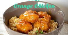 Easy Orange Chicken dinner Recipe Main Dishes with chicken nugget, rice, water, orange, lemon juice, rice vinegar, soy sauce, brown sugar, ginger, red pepper flakes, corn starch, cooked rice, frozen mixed vegetables, frozen shelled edamame, eggs, soy sauce, brown sugar