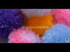 Cómo hacer pompom de lana super FACIL video tutorial | Ronycreativa - YouTube