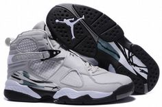 quality design ade7e 51bd0 michael jordan 8 retro sneakers grey and black Nike Air Jordan Retro, Air  Jordan Shoes