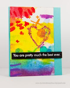 Love the artsy feel of this card with the perfectly placed and grounding sentiment. By Cheiron Brandon