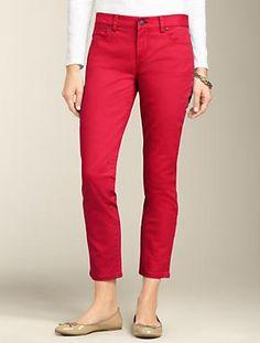 Talbots - Signature Fit Colored Denim Crop Jean | Denim | Petites