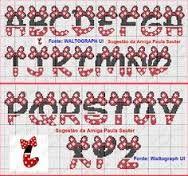 Risultati immagini per grafico da minnie baby em ponto cruz alfabeto