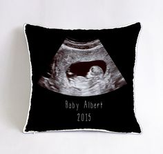 Ultrasound photo on canvas perfect for the new parent holiday baby ultrasound pillow case baby nursery cushion baby shower gift new born fathers day gift mom dad baby decor mothers day gift negle Images