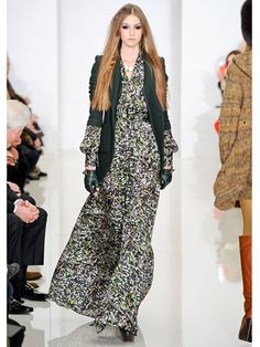 Jumpsuits. Rachel Zoe  The celebrity stylist-turned-designer's very first runway show introduced a new, more tailored way to wear a flowing jumpsuit when combined with a chic blazer and leather fingerless gloves.