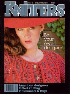 Knitters 5 Fall Winter 1986 Fulling Felted Mittens Sweater Cowichan Jacket  #Knitters #KnittingPatterns