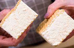 Stejný recept na domácí ruskou zmrzlinu v oplatce jako z dob Československa: Jen 5 minut času a 2 ingredience, které máte vždy doma po ruce! Yams, Vanilla Cake, Feta, Gelato, Cheese, Bread, Cooking, Recipes, Youtube
