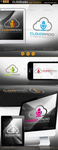 Cloud Radio — Vector EPS #black #logos • Available here → https://graphicriver.net/item/cloud-radio/4578203?ref=pxcr