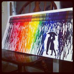 Melted Crayons Umbrella Art