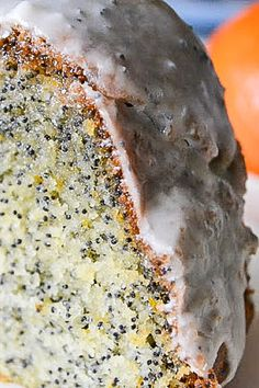 Luscious Tangerine Poppy Seed Cake bursts with citrus flavor!