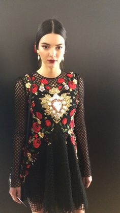 Go Behind the Scenes at Dolce & Gabbana's Spring 2015 Show with Stylist Tabitha Simmons – Vogue - Kendall's first look