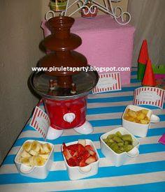 piruletaparty: MESA DULCE FERIA fuente de chocolate