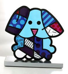 98951523b Romero Britto Arte Pop, Contemporary Art, Dog Sculpture, Graffiti Painting,  Pop Art