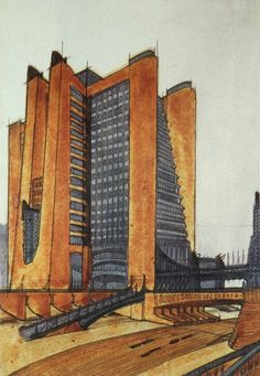 Antonio Sant'Elia ( 1888 - 1916) was an Italian architect, key member of the Futurist movement in architecture.