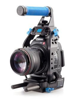 Canon EOS C100 - ultraCage ™   bleu pour C100   C100 Canon Rig