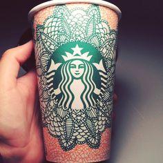 lace mandala style @starbucks cup!