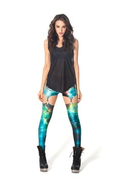 Blue Starry Night Clip Leggings