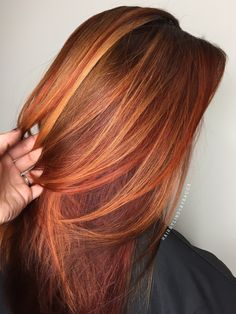 Fall hair red hair copper hair blonde hair balayage