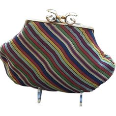 Vintage Multi-Colored Petite Purse with Jemco Frame