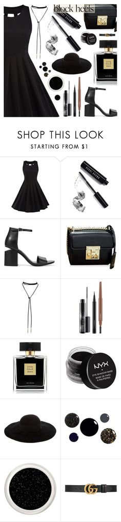 Step Up: Block Heels - Rosegal by dora04 on Polyvore featuring Alexander Wang, Eugenia Kim, Gucci, Bobbi Brown Cosmetics, MAC Cosmetics, NYX and Avon
