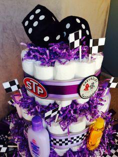 Racing diaper cake
