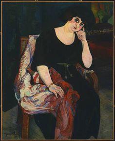 Suzanne Valadon. Portrait of Mme Zamaron. 1922