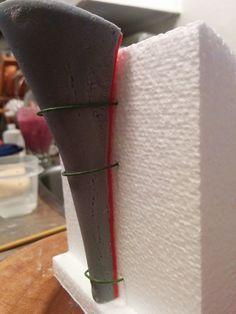 Fondant high heeled shoe step by step