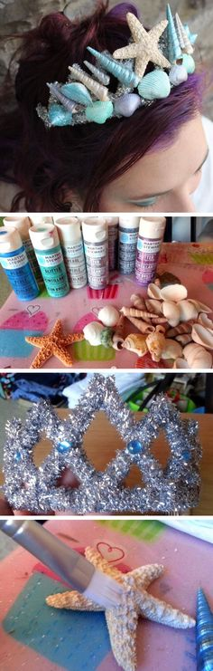 Mermaid Tiara for Mermaid Costume | Click Pic for 18 DIY Seashell Craft Ideas for the Home | Easy Seashell Decorating Ideas on a Budget