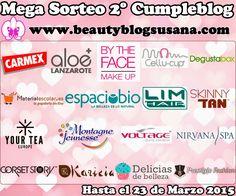 Beauty Blog By Susana: MEGA SORTEO 2º CUMPLEBLOG