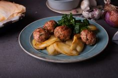 Pork, smoked paprika & parsley meatballs with sautéed parsnips | Mindful Diaries