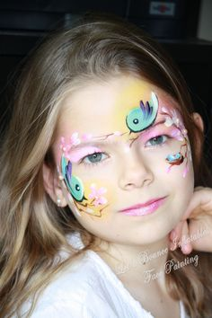 Simple face painting designs are not hard. Many people think that in order to have a great face painting creation, they have to use complex designs, rather then Girl Face Painting, Belly Painting, Face Painting Designs, Disney Face Painting, Animal Face Paintings, Animal Faces, Cool Paintings, Easter Face Paint, Butterfly Face Paint