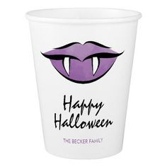 Vampire Lips Goth Halloween Party Paper Cup - halloween decor diy cyo personalize unique party