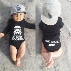 Storm Pooper-The Dark Side-BABY BODY Cadeau naissance enfant Star Wars Empire