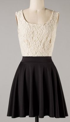 Black & Cream Tank Dress; coming to Figleaf boutiques early Nov.  $39
