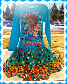 Doc McStuffins twirl party Dress layers of by BlossomBlueBoutique, $36.99