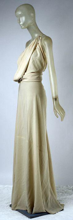 Vionnet Dress - SS 1937 - by Madeleine Vionnet (French, 1876-1975) - Silk - Modèle n°4099